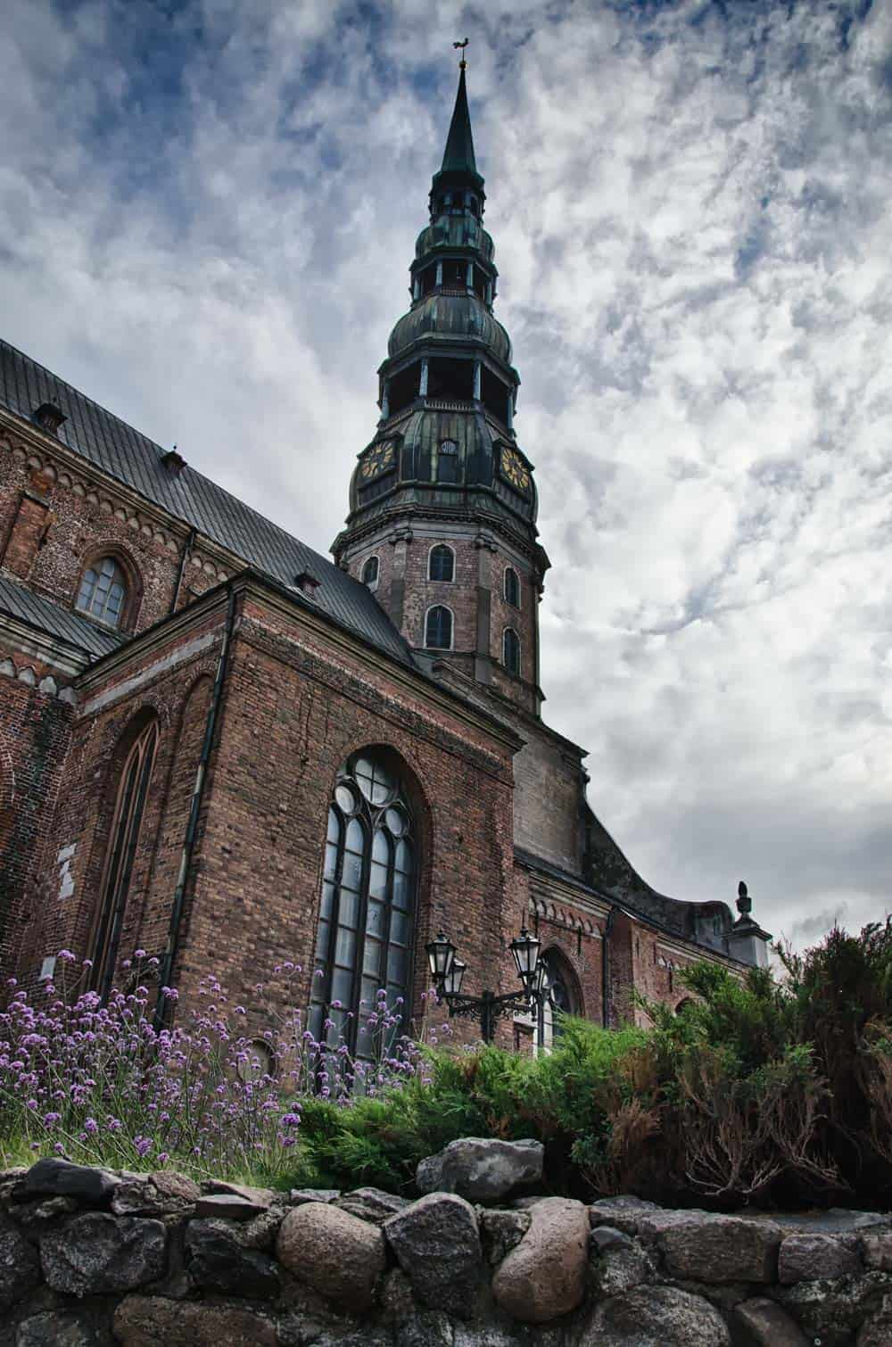 St Peter's Church in Old Town Riga, Latvia