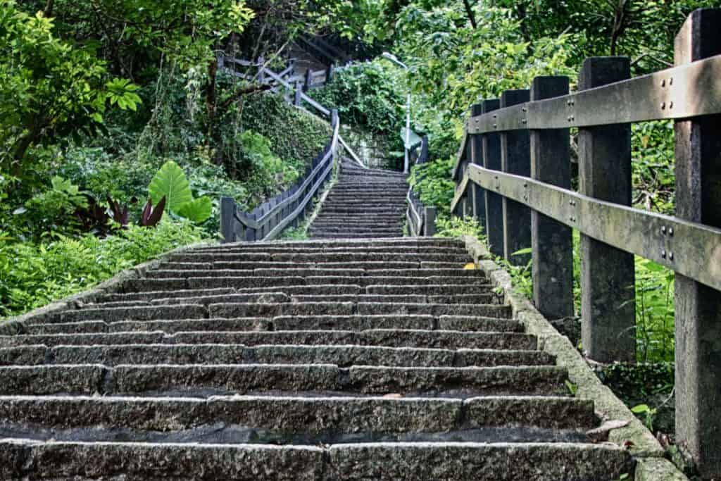 Stairs at Elephant Mountain, Taipei, Taiwan
