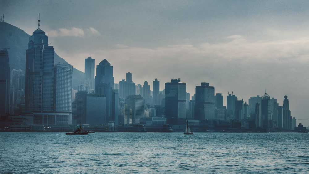 View of Victoria Harbour and Hong Kong Skyline from Star Ferry
