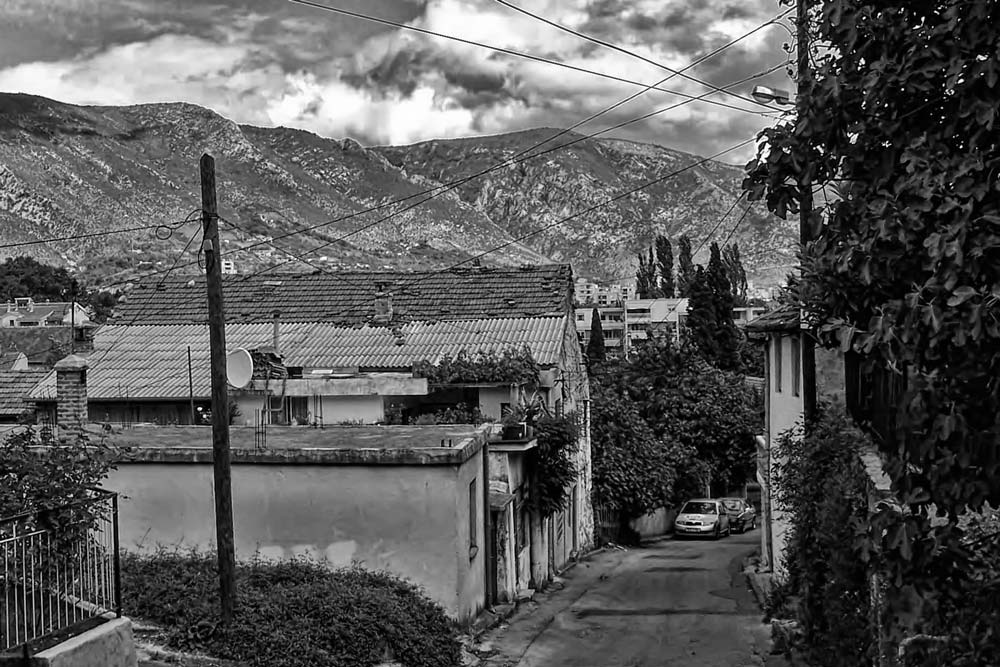 Street in Eastern Mostar, Bosnia & Herzegovina