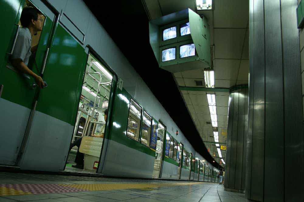 Subway Train in Seoul, South Korea