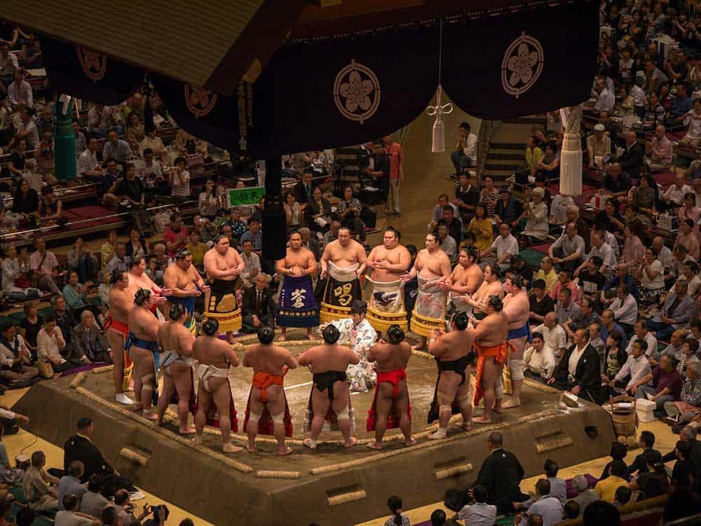 Sumo Wrestlers @ Ryogoku Kokugikan