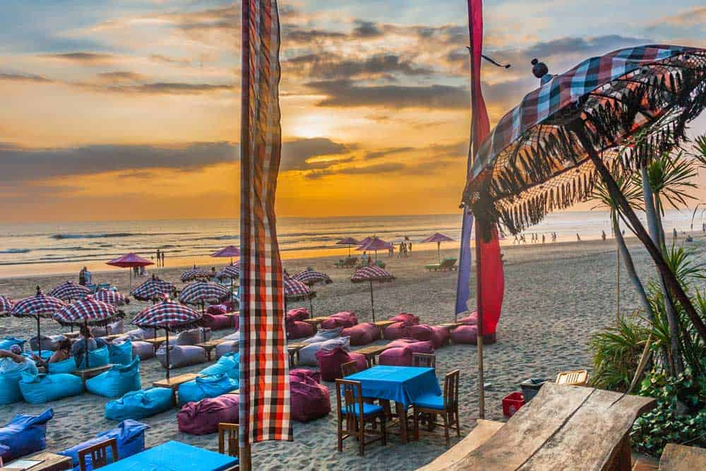 Sunset at Beach Bar in Legian