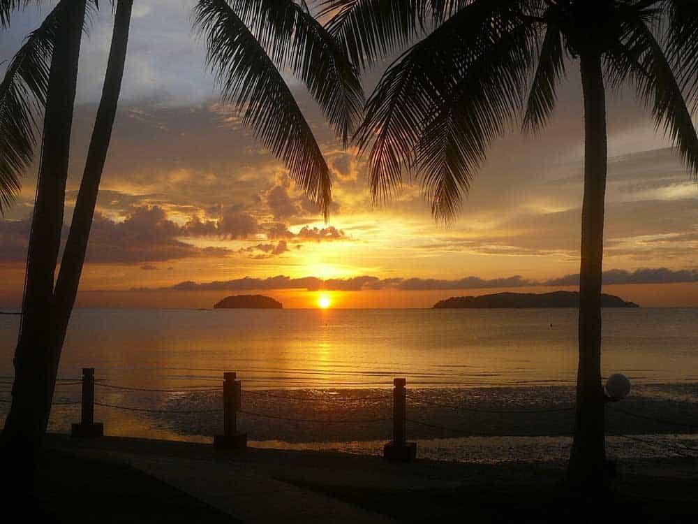 Sunset on Borneo