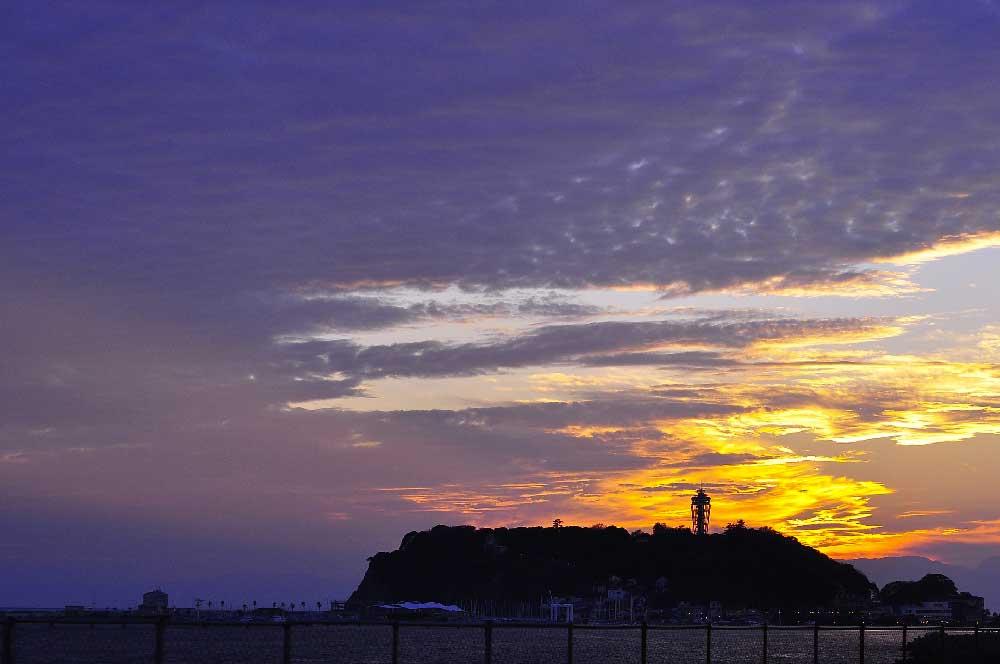 Sunset at Enoshima, Japan