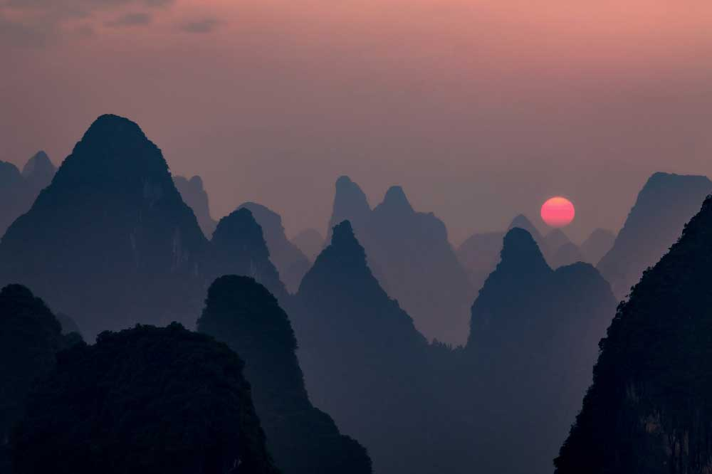Sunset in Guanxi, China