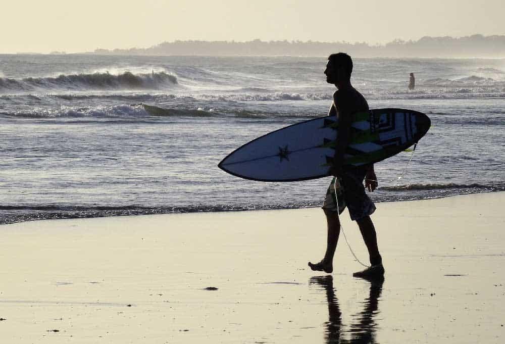 Surfer Indian Ocean