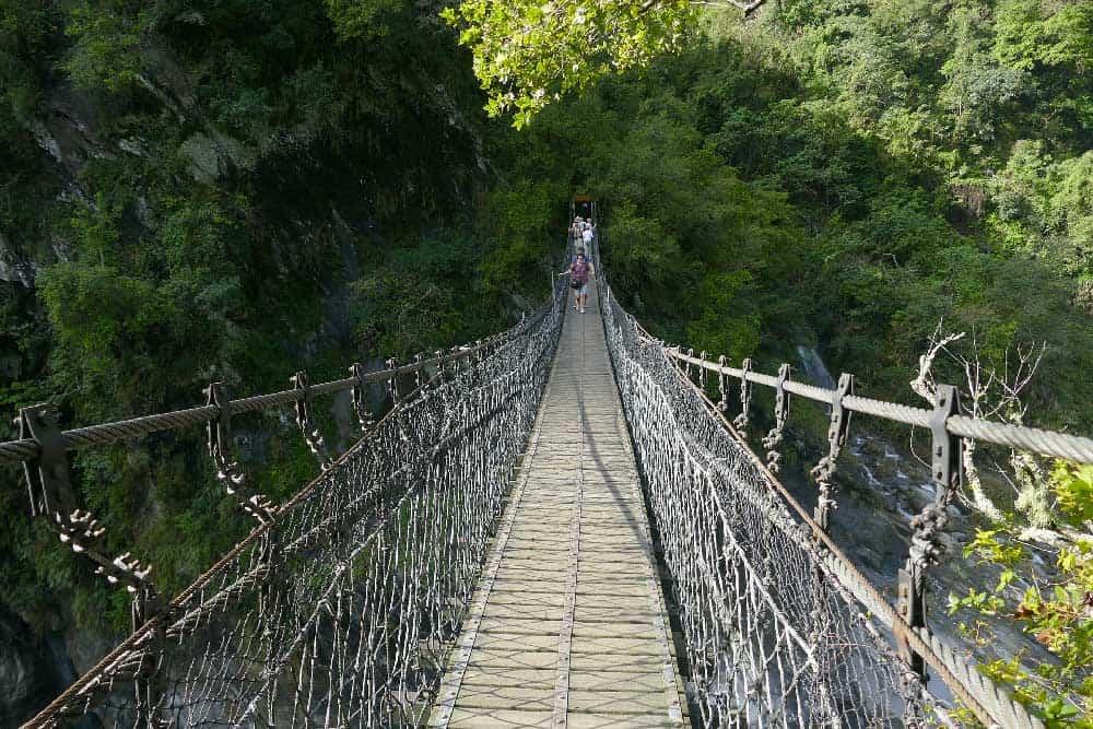 Suspension Bridge at Taroko Gorge