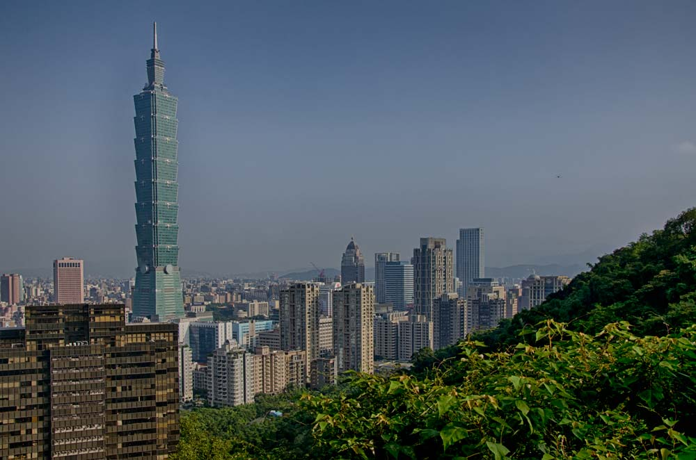 Taipei 101 From Elephant Mountain in Taipei