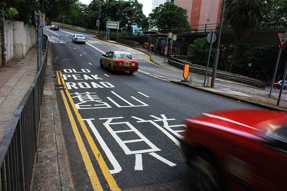 Taxi on Old Peak Road