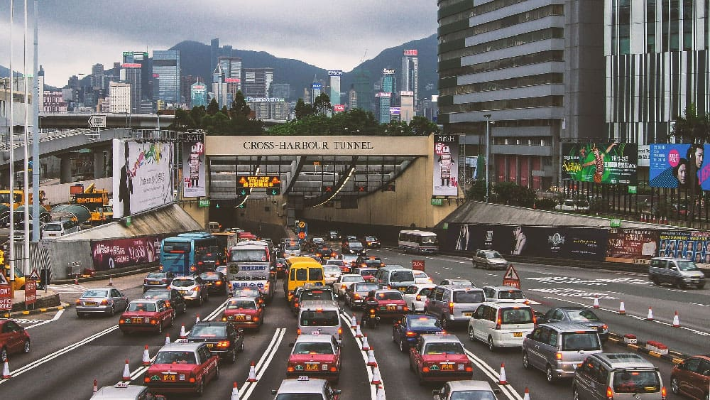 Taxis in Hong Kong