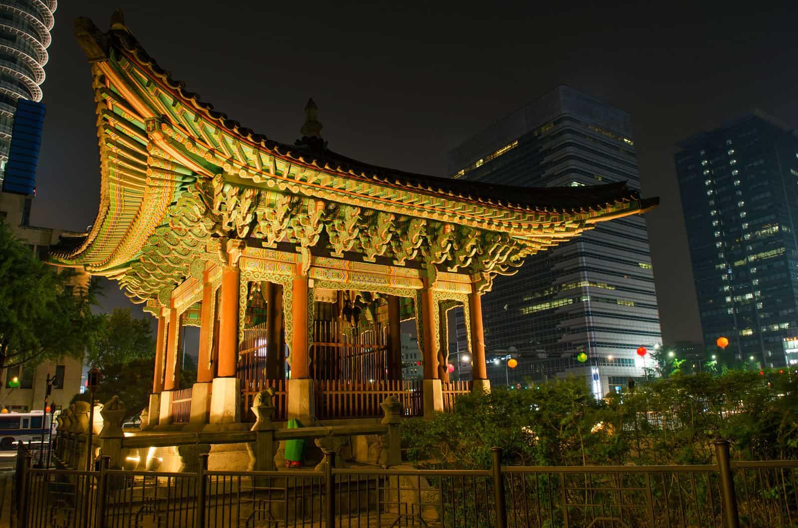 Temple in Seoul, South Korea