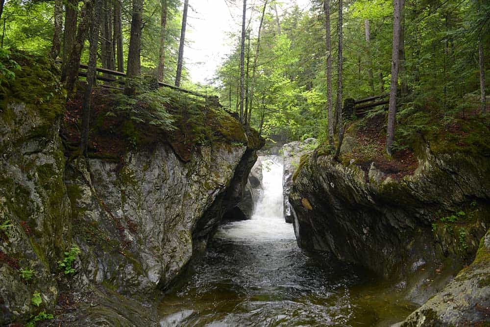 Texas Falls in Green Mountain National Forest, Vermont