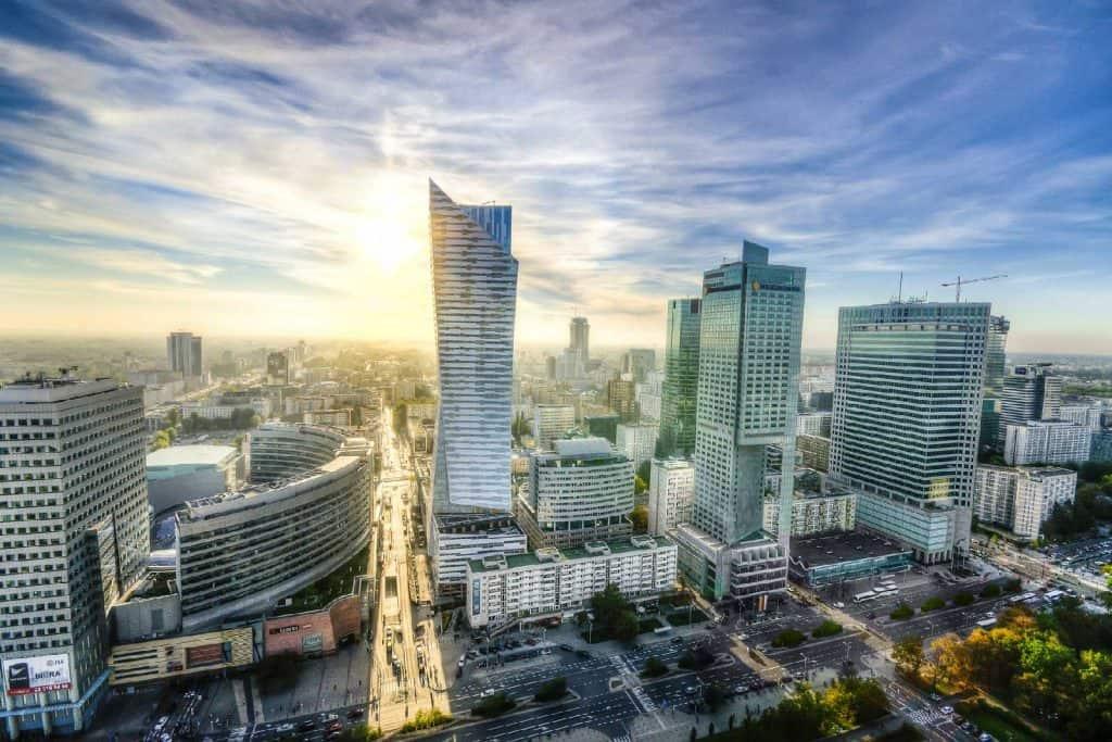 Srodmiescie in Warsaw, Poland