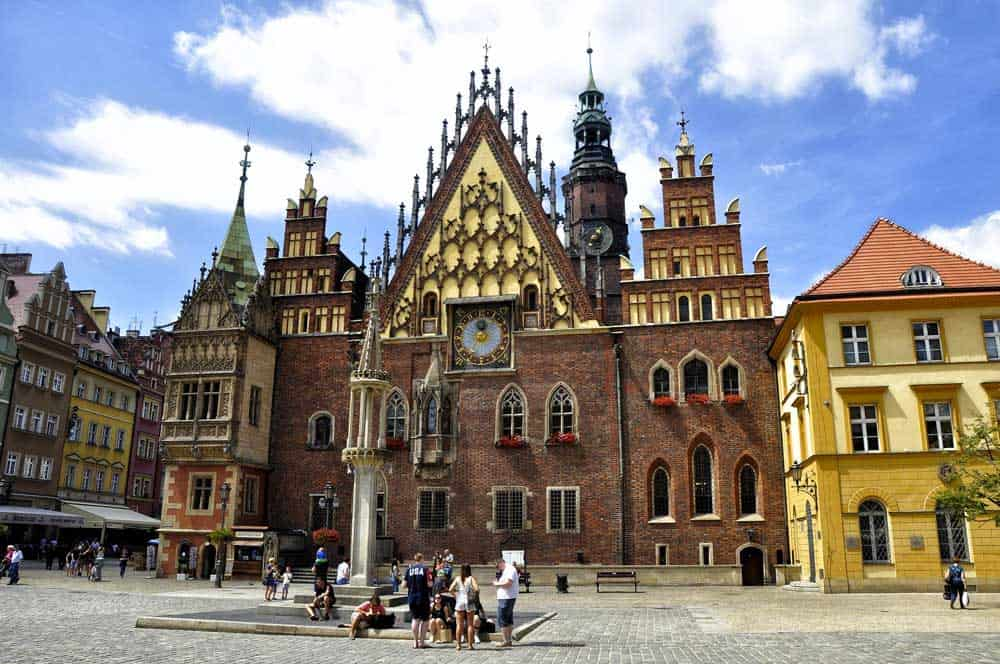 Wroclaw Town Hall in Wroclaw