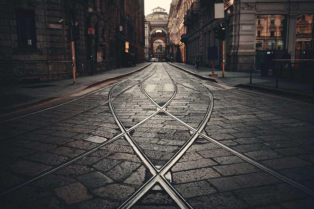 Tram Track Milan