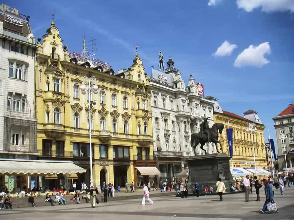 Trg bana Jelačića in Zagreb, Croatia