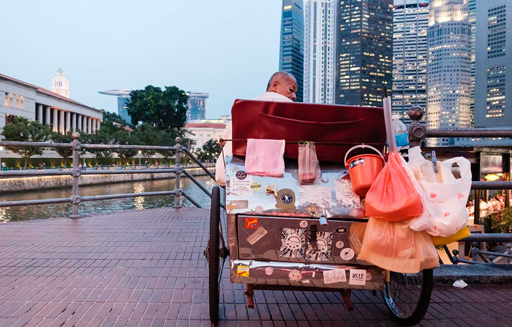 Trishaw in Clarke Quay, Singapore