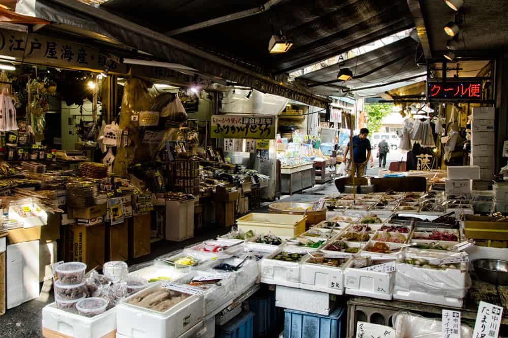 Inner Market at Tsukiji Fish Market
