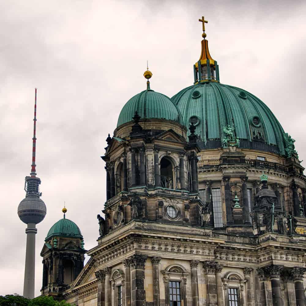 Berlin TV Tower and Berliner Dom in Berlin, Germany