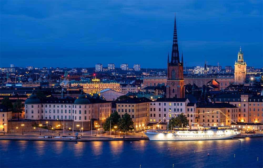 Twilight in Stockholm, Sweden