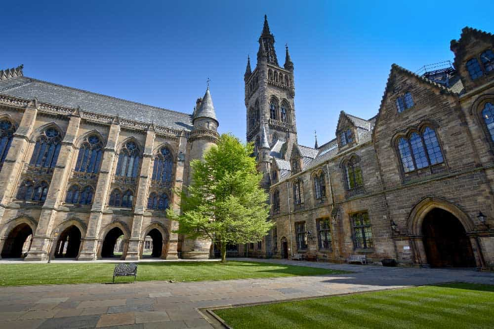 University of Glasgow in West End