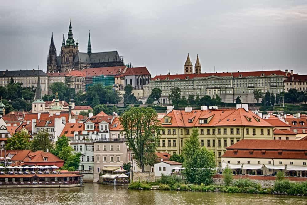 View from Charles Bridge in Prague, Czech Republic
