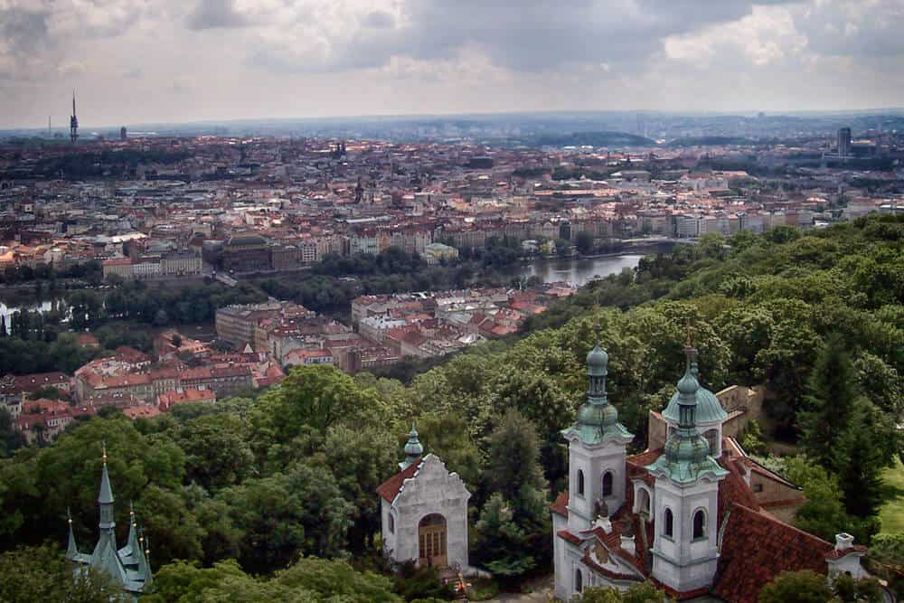 View from Petrin Hill, Prague