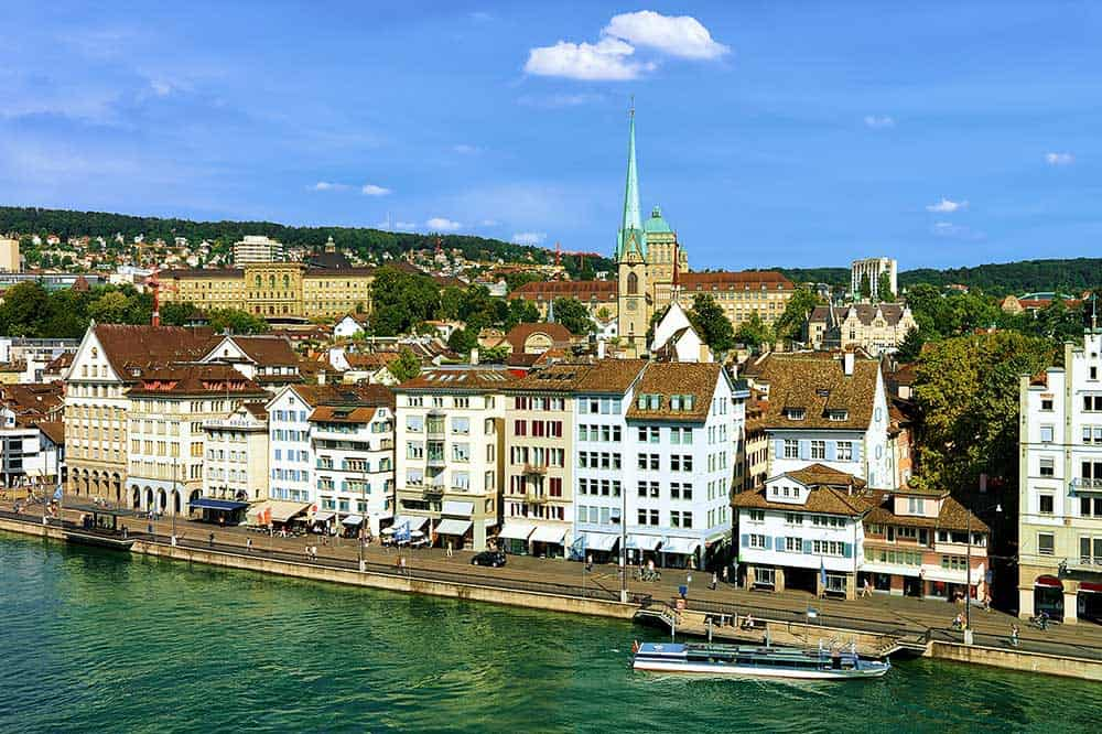 View from Lindenhof Hill