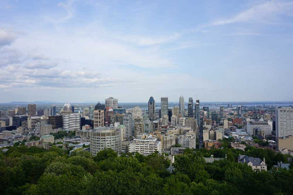 View of Downtown Montreal from Mont-Royal