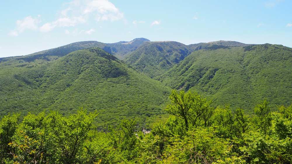 View from Mount Hallasan on Jeju Island