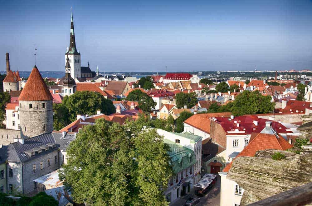 View from Toompea Hill in Tallinn