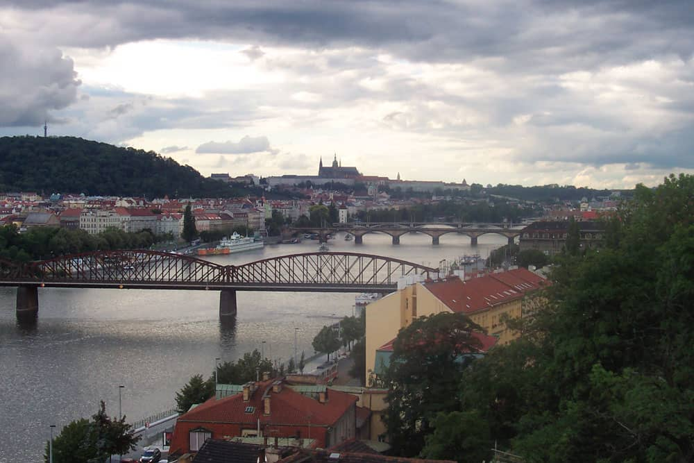 View from Vyšehrad, Prague, Czech Republic