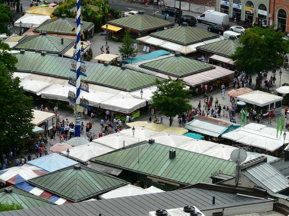 Viktualienmarkt in Munich, Germany