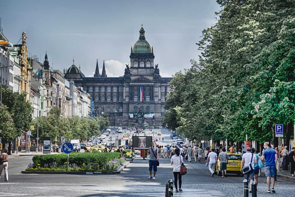 Wenceslas Square in New Town Nove Mesto
