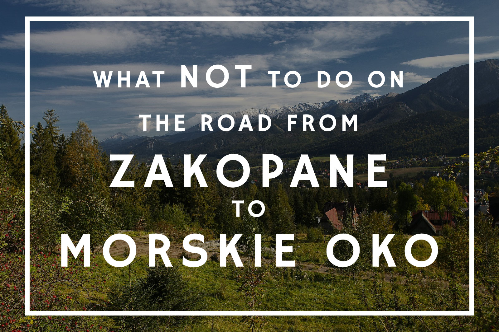 The Road From Zakopane to Morskie Oko: A Complete Guide of What Not to Do