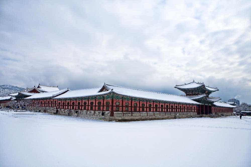Winter @ Gyeongbokgung Palace in Seoul, South Korea