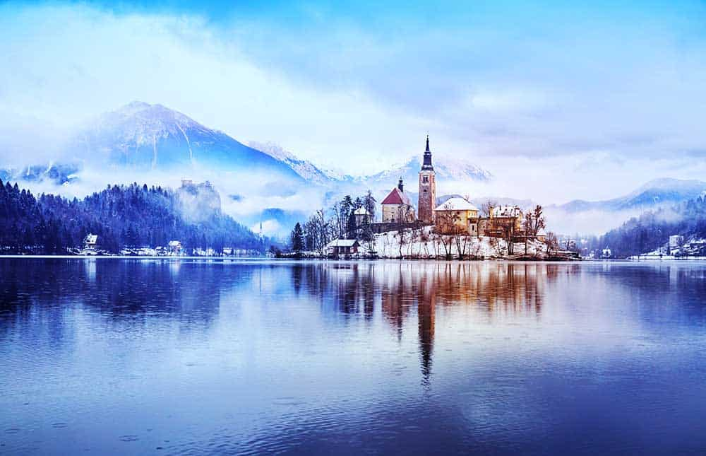 Winter in Lake Bled