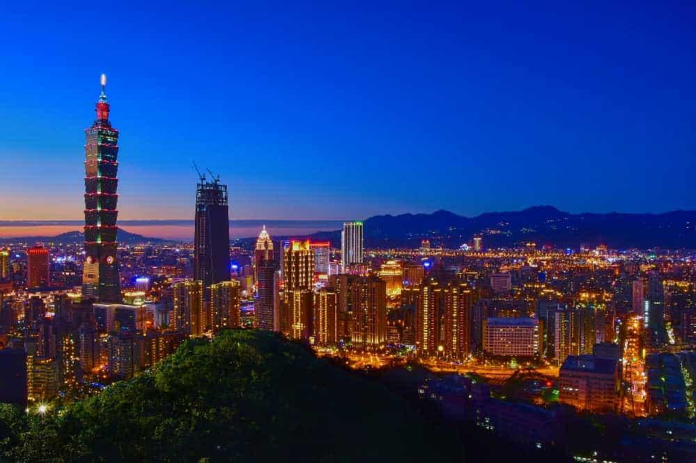 Taipei Skyline from Xiangshan