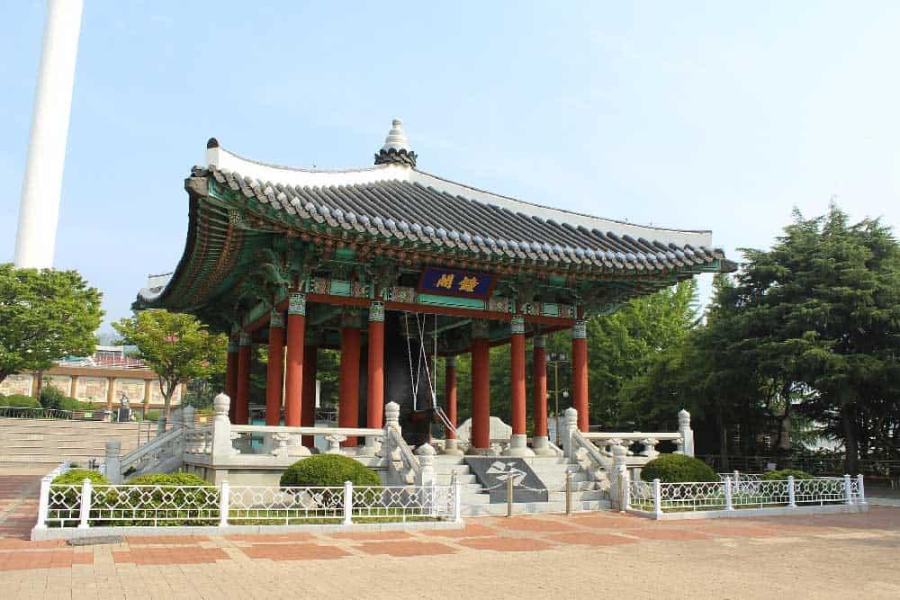 Yongdusan Park in Busan, Korea