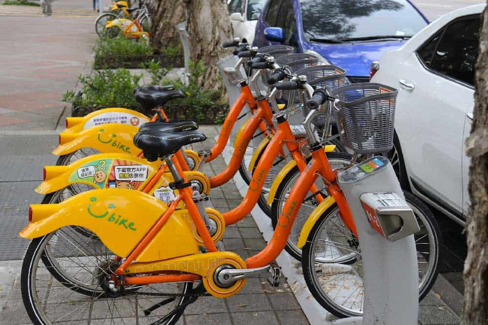 Youbike Rental in Taipei, Taiwan